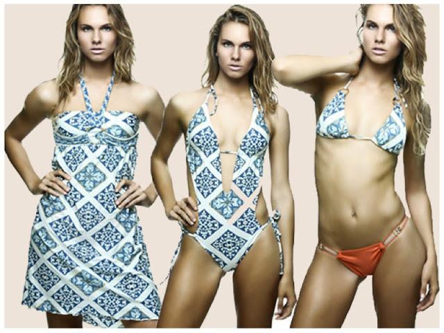 estampa de azulejo moda praia