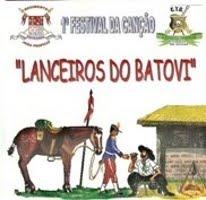 2003 - CD do 1º Festival da Canção Gaúcha Lanceiros do Batovi