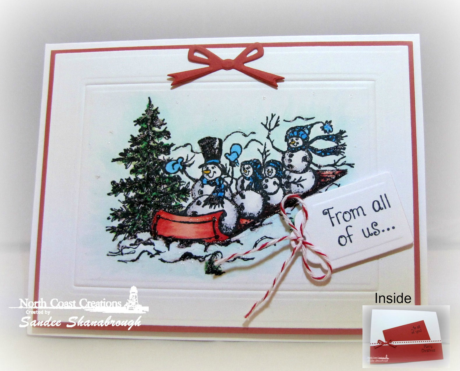 Stamps - North Coast Creations Snowman Family, ODBD Custom Recipe Card and Tags Dies, ODBD Custom Beautiful Borders Dies, ODBD Custom Circle Ornaments Die