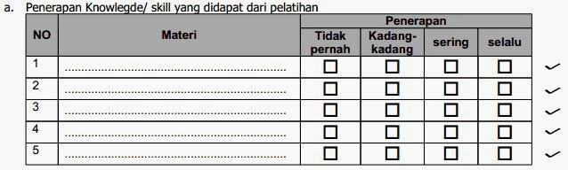 Petunjuk Pengisian Form Evaluasi Pasca Pelatihan Sdm Pt Pjb Pltu