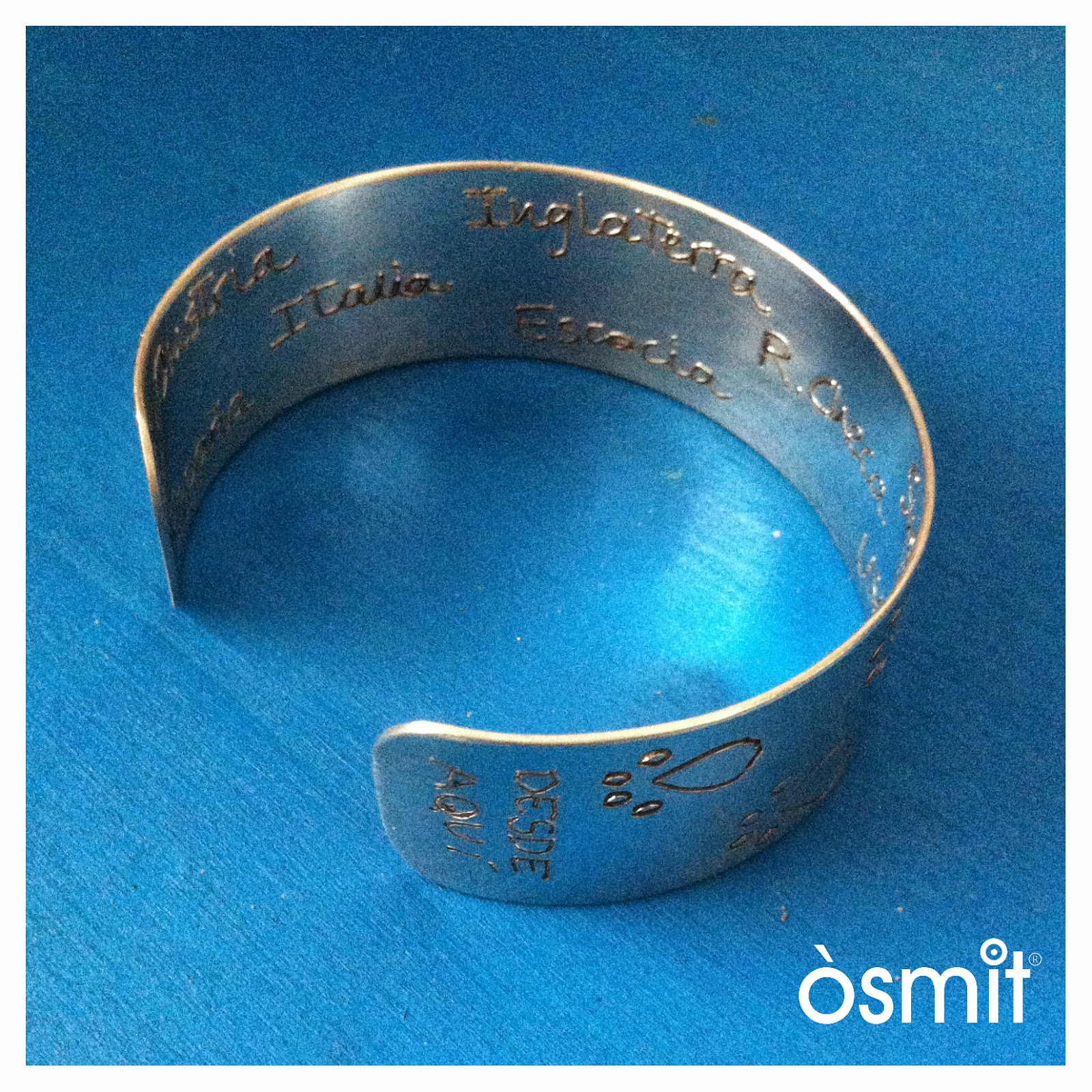 bracelet amb text osmit joies