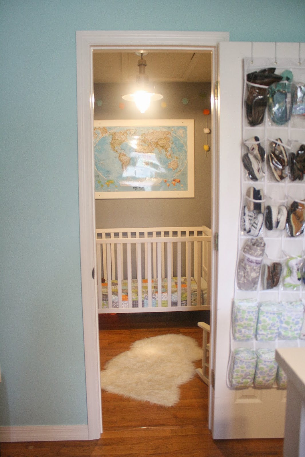 Master Closet Turned Baby Boy Nursery