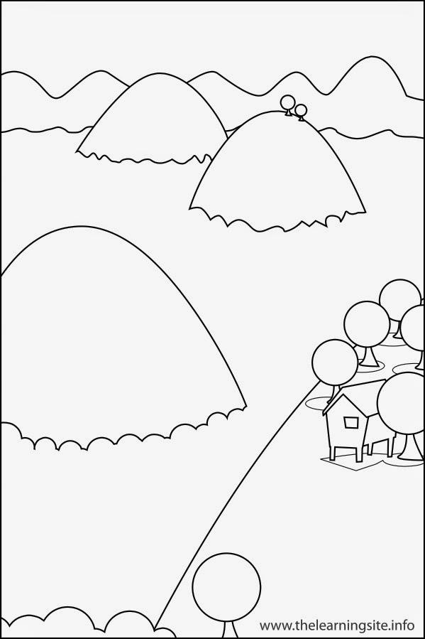 valley landforms coloring pages - photo#4
