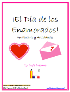 Lizs lessons french and spanish valentines day vocabulary and cards in the target language valentines day bingo template valentines wordle word cloud activity valentines acrostic poem writing activity maxwellsz