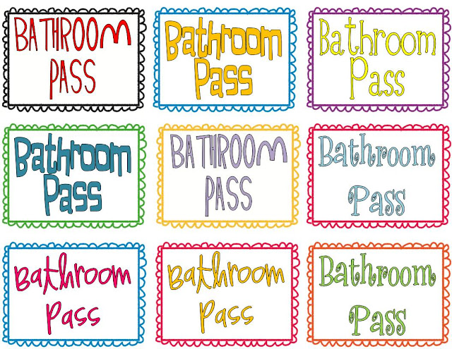 Summer Stuff 4 Freebie Sanitizer Bathroom Passes I Want To Be A Super Teacher