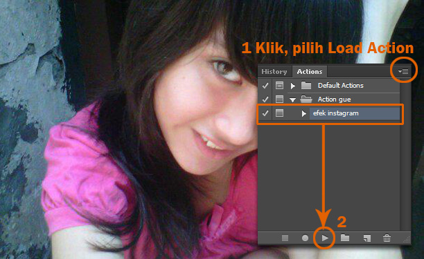 Membuka Action Pada Photoshop
