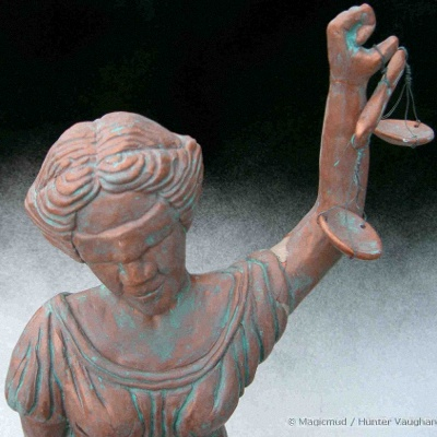 Hunter Vaughan - Lady Justice figurine