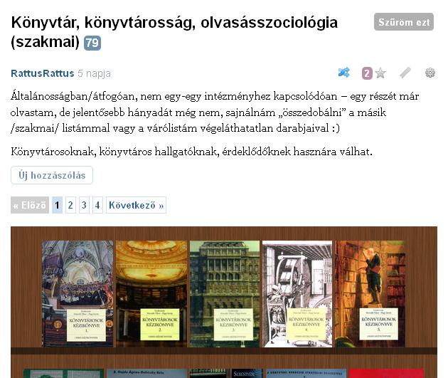http://moly.hu/polcok/konyvtar-konyvtarossag-olvasasszociologia-szakmai