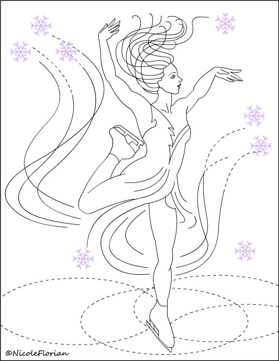 Figure Skating Coloring Pages widescreen