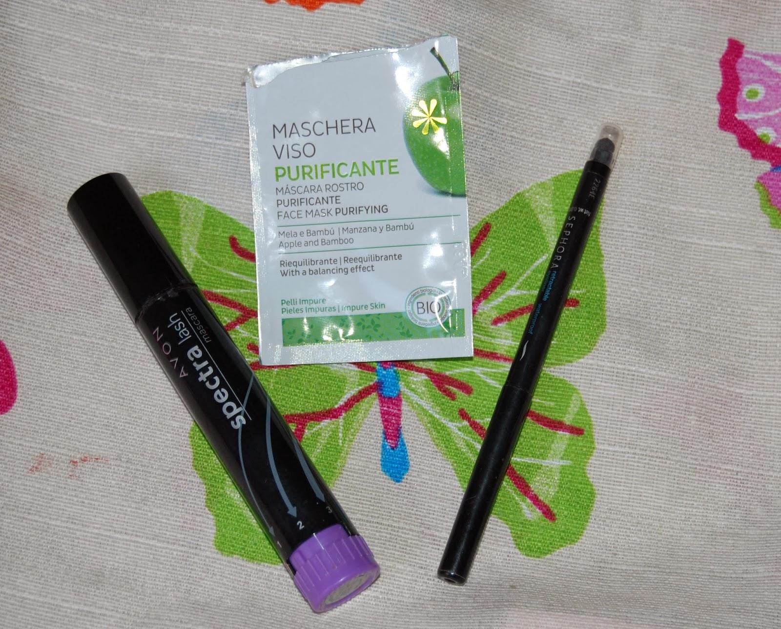 Immagine Avon mascata - Delidea maschera viso - Sephora matita occhi