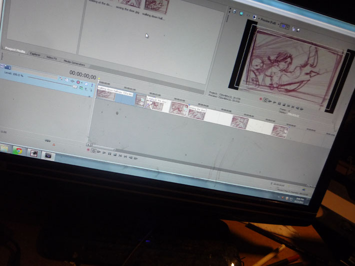 Creating an animatic in sony vegas, Jeff Lafferty