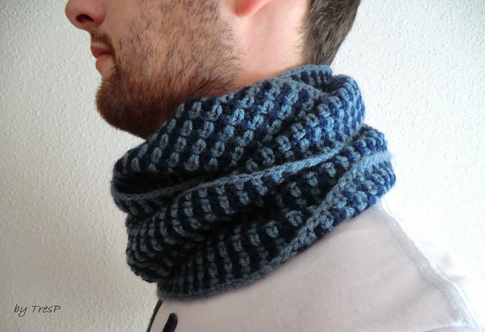 TresP craft blog: CUELLO/BUFANDA MASCULINO DE CROCHET/GANCHILLO CON ...