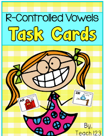 Task cards: R-controlled vowels