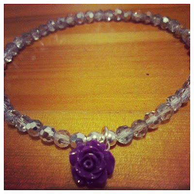 Balanga vintage purple rose bracelet