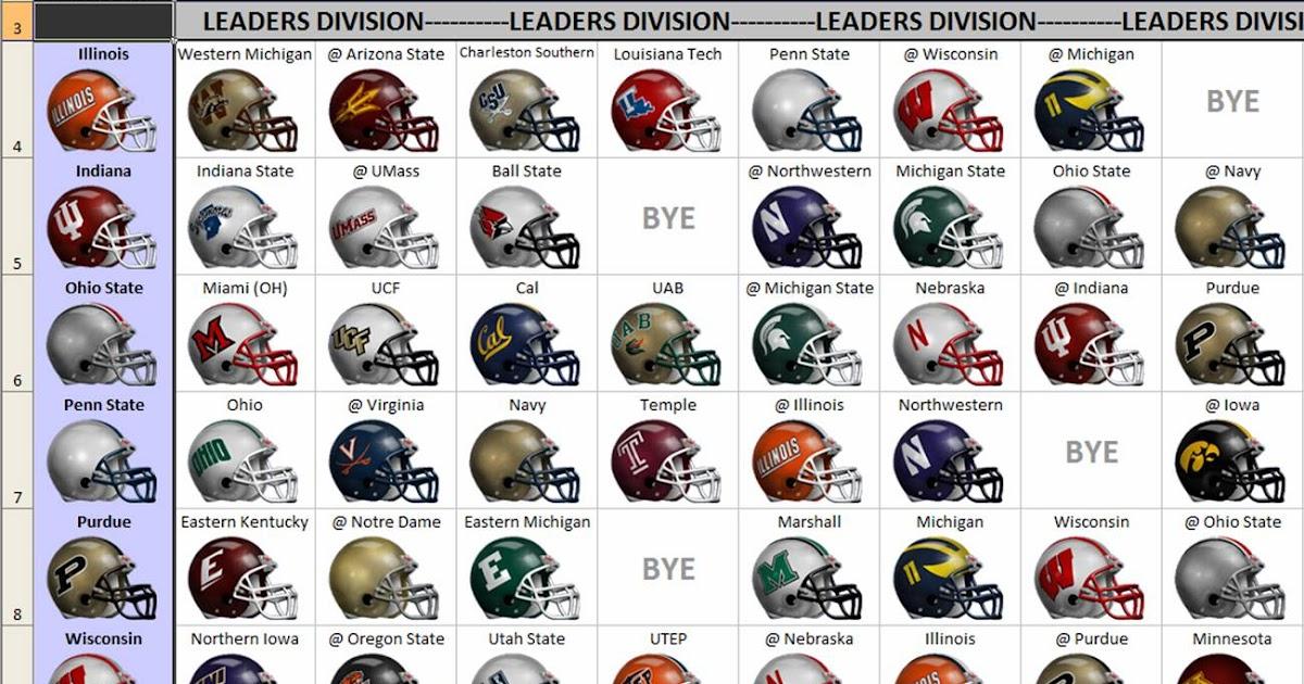 excel spreadsheets help  2012 ncaa football helmet schedule