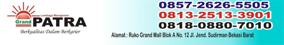 Tempat Kursus  Grand PATRA Bekasi Telp : 0857.26265505