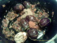 add the slitted brinjals and saute them6