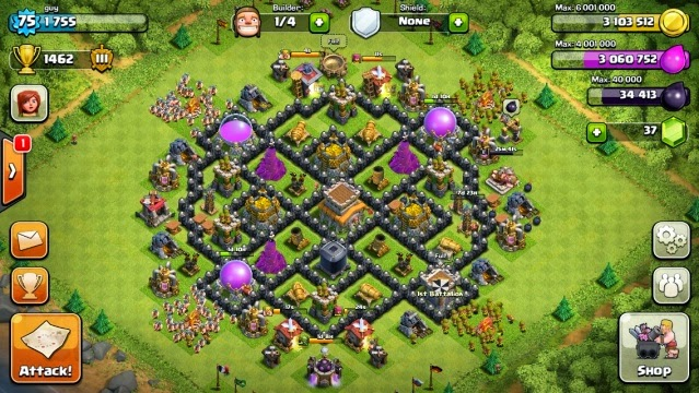 Clash of clans base strategy town hall 8