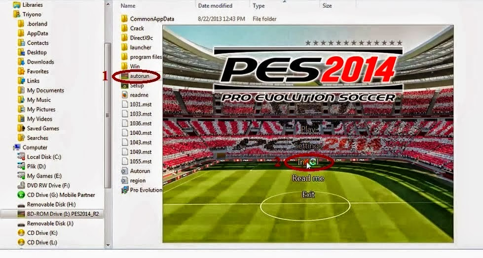 Cara termudah Install Game Pro Soccer Evolution di Laptop Anda