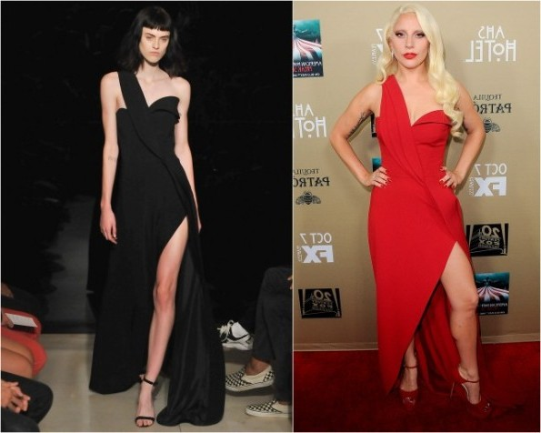 Lady Gaga In Brandon Maxwell At The 'American Horror Story: Hotel' LA Premiere