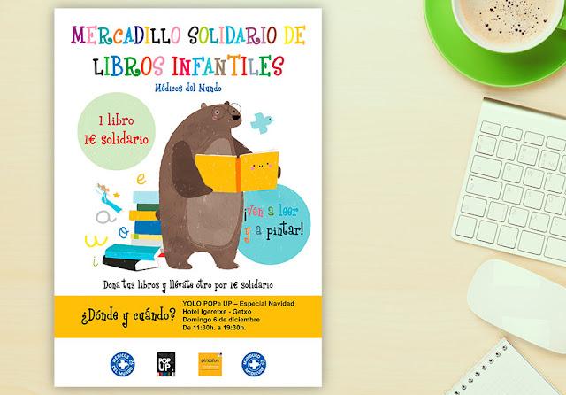 Dibus y mercadillos solidarios que llevan libros a los peques