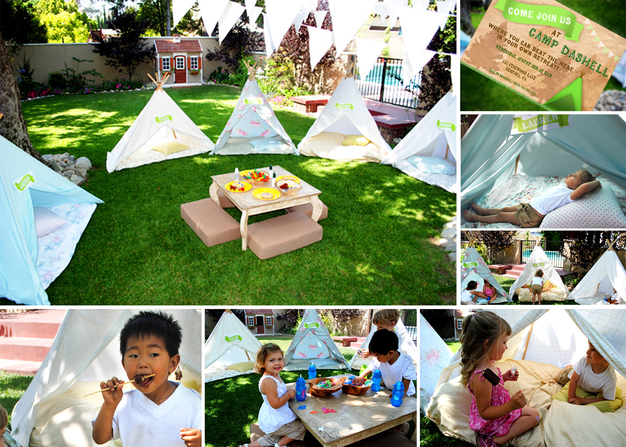 Backyard Camping Party Ideas : In July we hosted a Backyard Summer Camp Party dubbed Camp Dashell