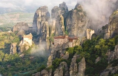 Image result for Kuil Meteora, Yunani