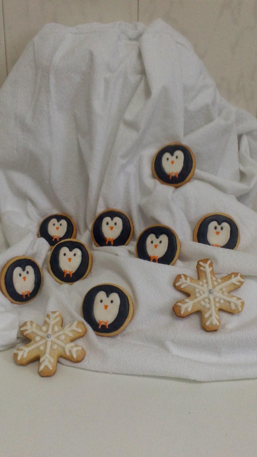 galletas decoradas pingüinos