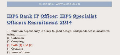 IBPS Bank IT Officer : IBPS Specialist Officers Recruitment 2014