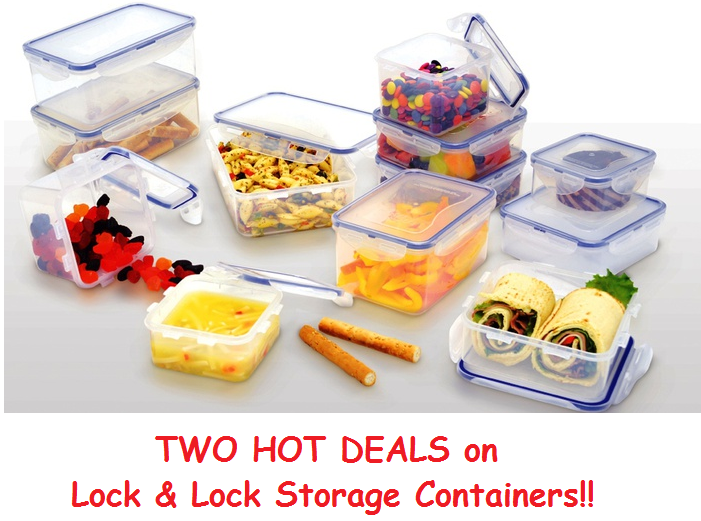 TWO Great Deals on Lock & Lock Food Storage Containers (I LOOOOOOVE These!)