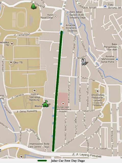 Peta lokasi CFD Dago