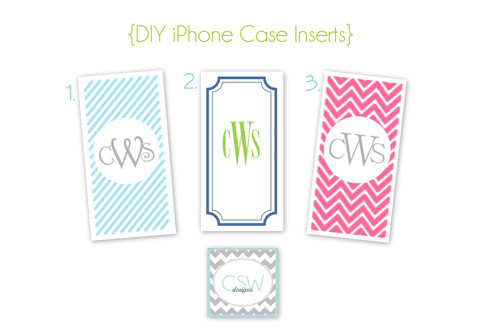 case inserts template