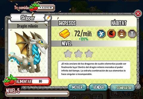 Dragon Milenio (4 elementos)