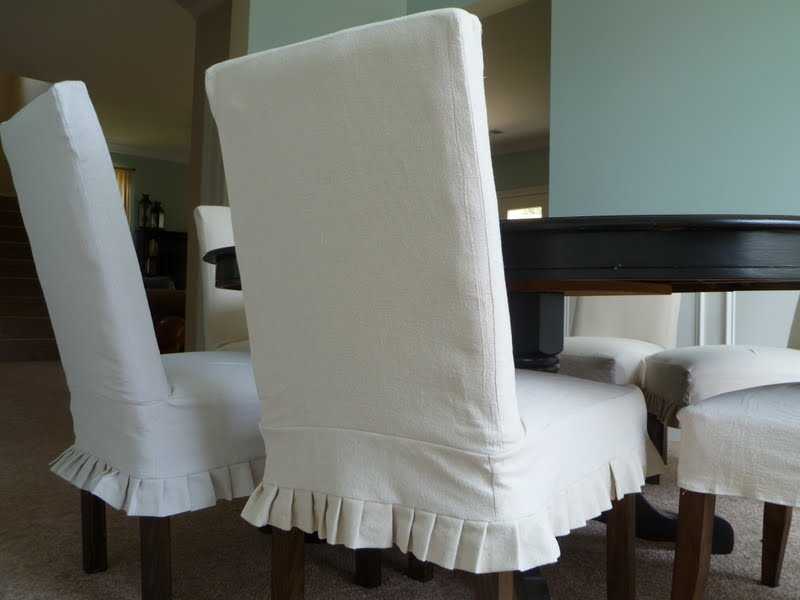 slipcovered parsons chairs for the dining room
