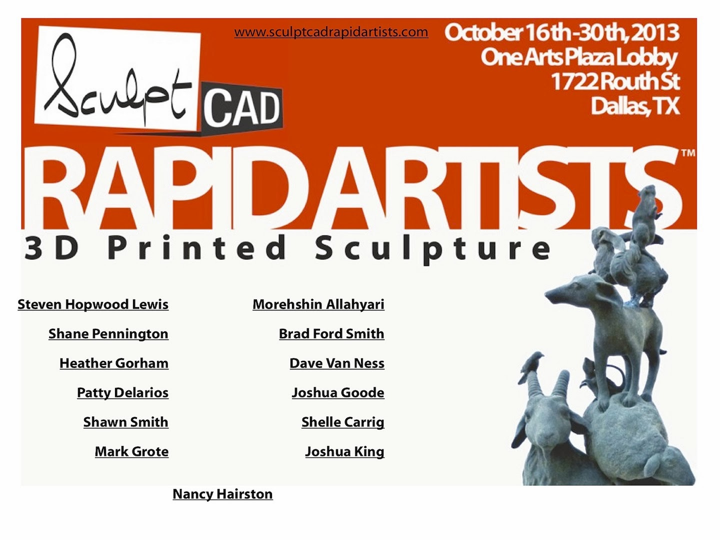 Brad Ford Smith SculptCAD Rapid Artists