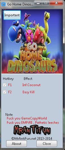 Go Home Dinosaurs V0.5.0.0 Trainer +2 MrAntiFun