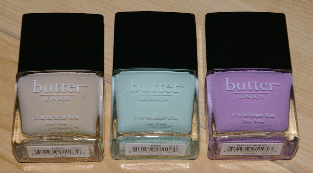 The Polish Jinx: Butter London Spring 2013 - Cuppa, Fiver And Molly Coddled Swatches