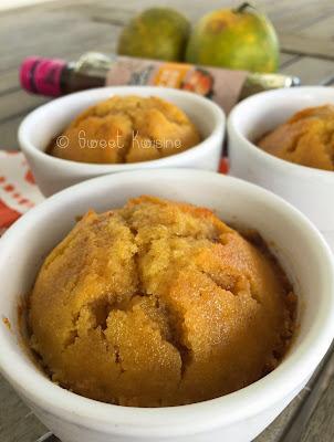 sweet kwisine, gateau, semoule, orange, sirop, délices de guyane, mombin, cuisine légère, végétarien, sans matière grasse