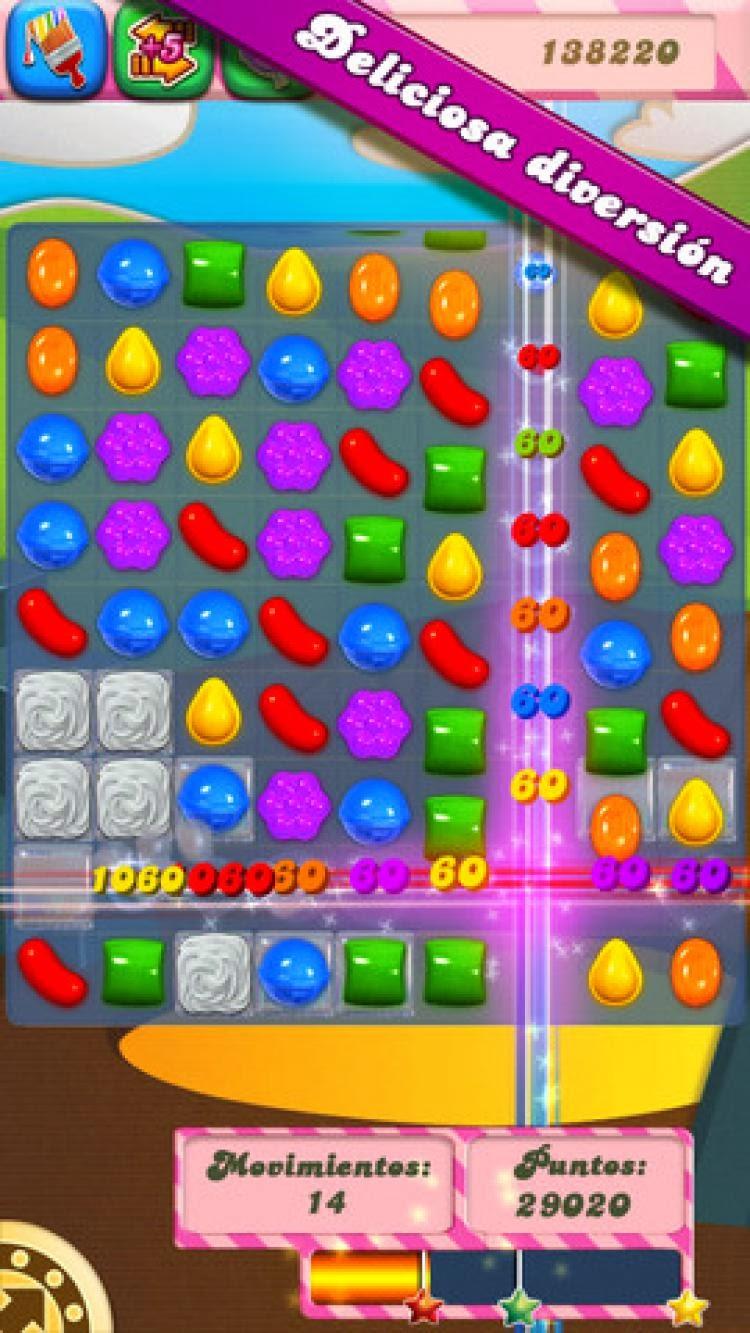 صورة من داخل لعبة Candy Crush Saga