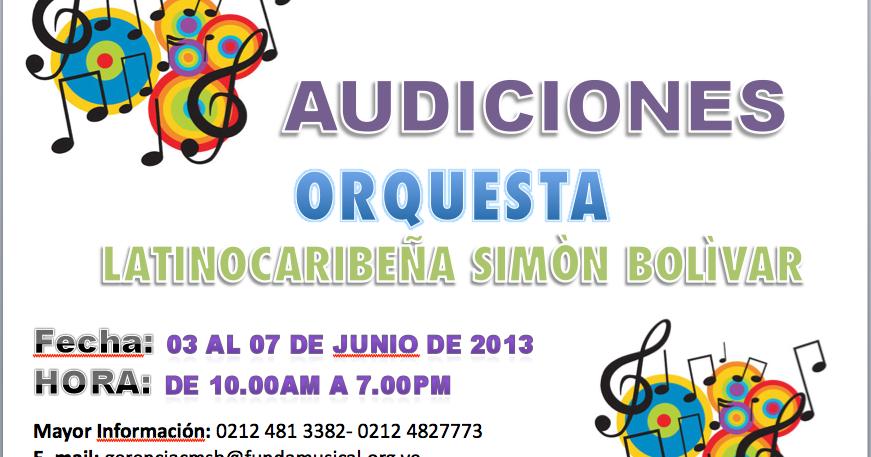 Conservatorio de m sica sim n bol var audiciones orquesta for Conservatorio simon bolivar blog