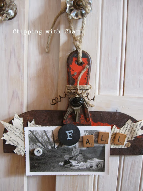 Orange Scraper to Fall Photo Holder by Chipping with Charm