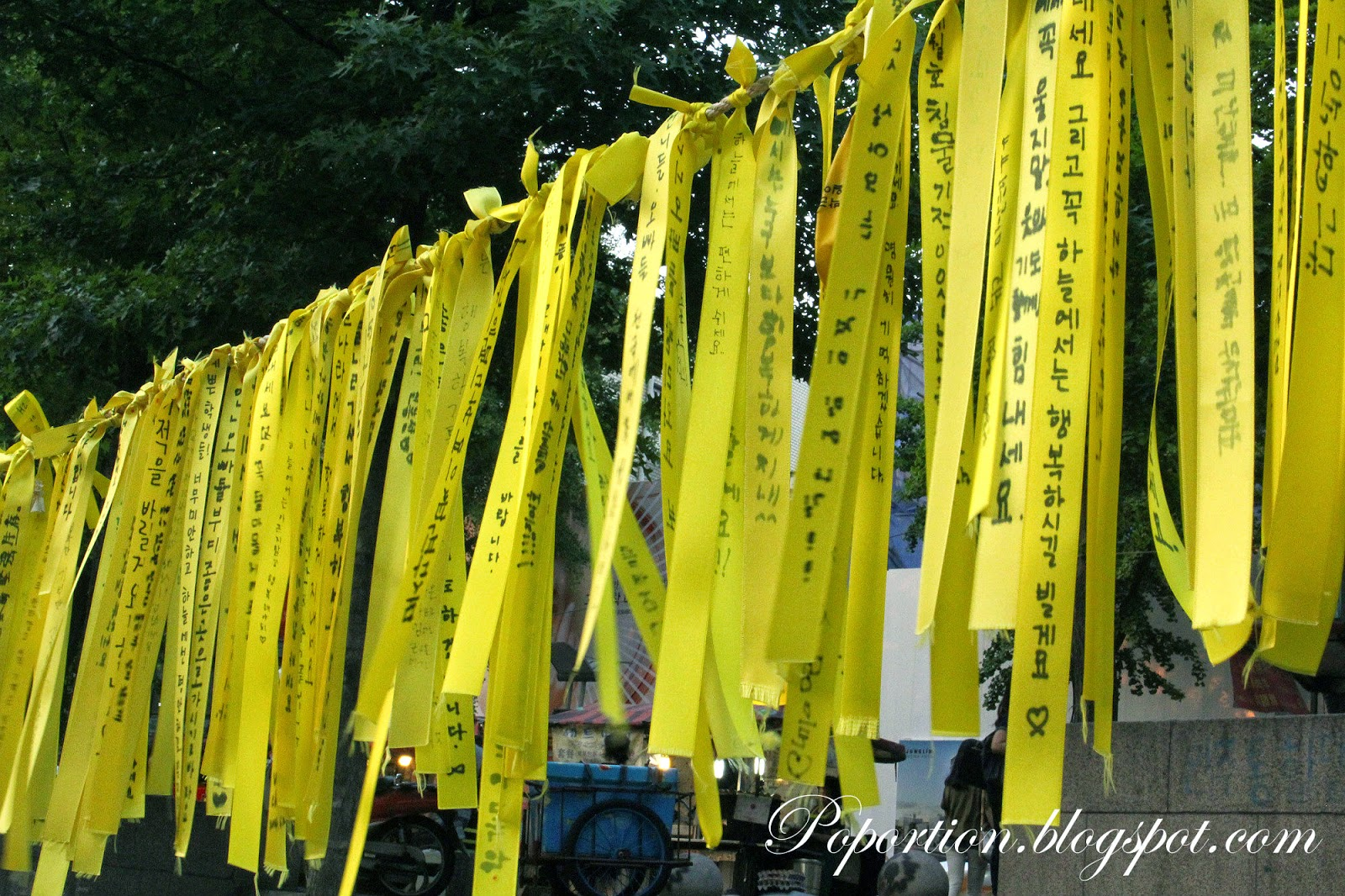 ewha womans university yellow ribbon campaign south korea sewol ferry incident