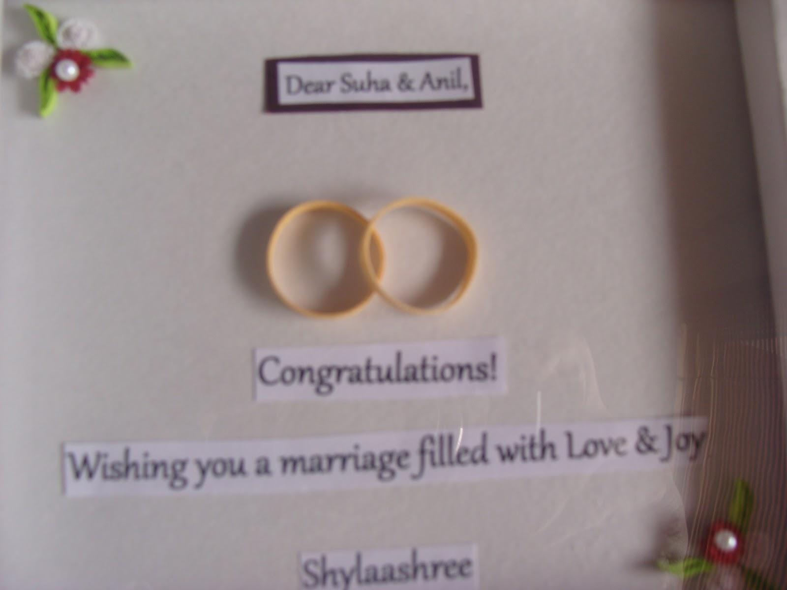 Adhiraacreations: Simple Wedding wishes