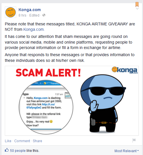 konga online shopping airtime promo alert
