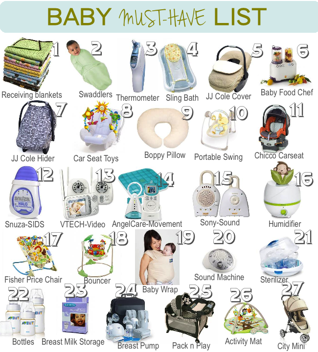 Baby Must Have List