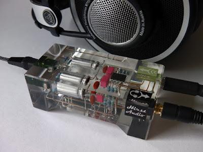[K!]【電子工作】海外の人が作った自作ヘッドフォンアンプがおしゃれすぎる(;・∀・)