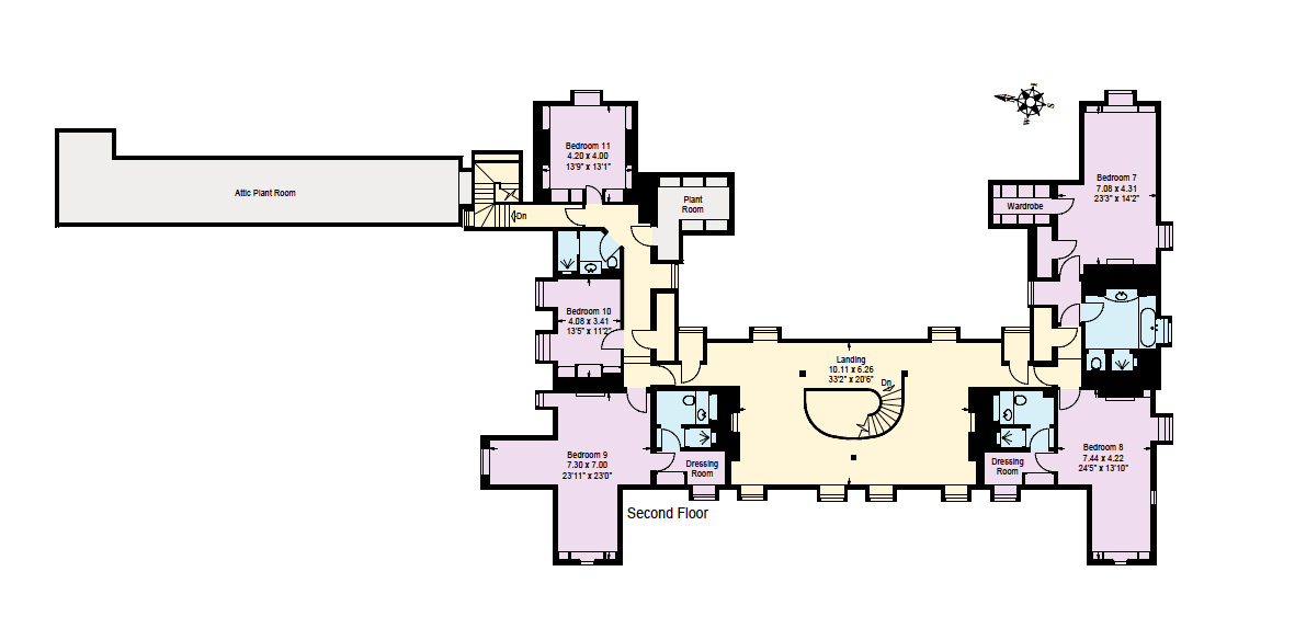 Hyde park 2nd floor and mansions on pinterest for Grand interior designs kings heath