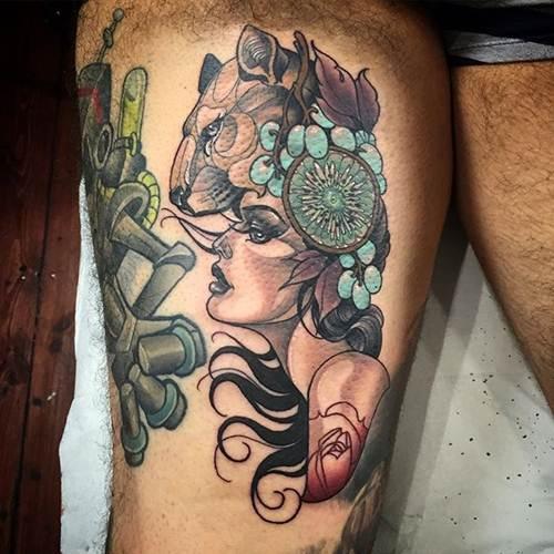 The badass neo traditional art of kat abdy noda luka for Black kat tattoo