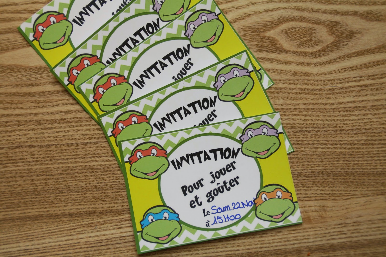 carton invitation tortue ninja