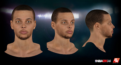 NBA 2K14 Steph Curry Cyberface Mod